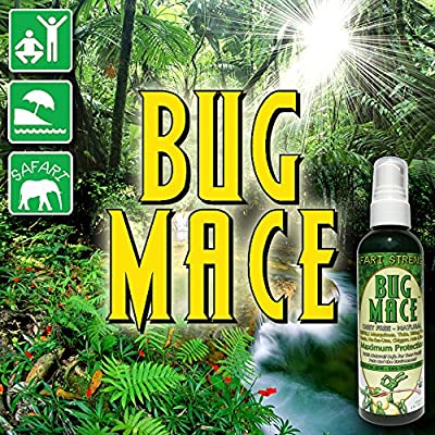 BugMace All Natural Mosquito Repellent Bug Spray, Repels Insects, Bugs and Mosquitoes. Certified Organic, Long Lasting, DEET FREE and 100% Safe for Babies, Children and Adults.