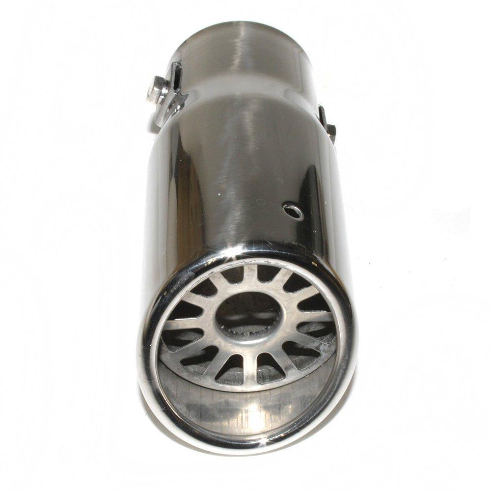 Autohobby 0087 Auspuffblende Auspuff Universell Schalldampf Endrohr Endrohrblende Blende Sport Edelstahl bis 49mm Chrom A B C G H J CC 3 4 5 6 7