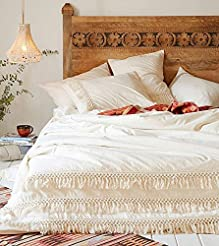 Fringed Duvet Cover Comforter Cotton Tas...