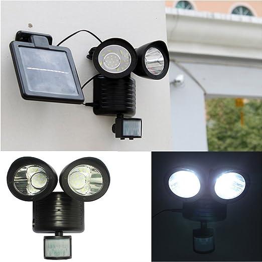 IPUIS 22 LED lámpara solar para exterior con detector de ...