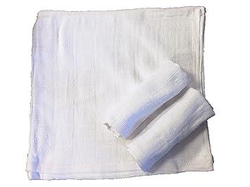 8bccba3869f570 Amazon|おしぼり 格子柄タオル 業務用 50枚入り 綿100% ホワイト 28 ...