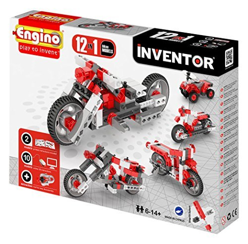 Engino  Ltd Inventor 12 Models Motorbikes by Engino