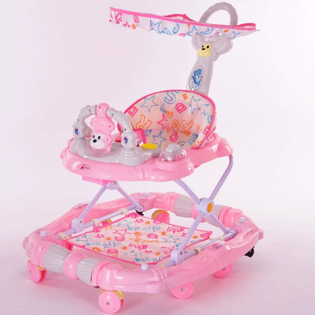 夏セール開催中 MAX80%OFF! ベビーウォーカー6-18ヶ月マルチ機能のアンチロールオーバーは B07K17V8RL、音楽ウォーカーと座ることができます : (色 : Pink) Pink Pink B07K17V8RL, 下北山村:30094ff8 --- kilkennyhousehotel.ie