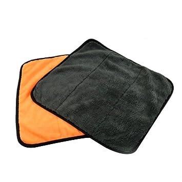 JuLun 1 PC Paños de limpieza, Ultra-Thick Microfiber Car pulimento para encerar y secar toallas Auto Detailing Towels: Amazon.es: Hogar