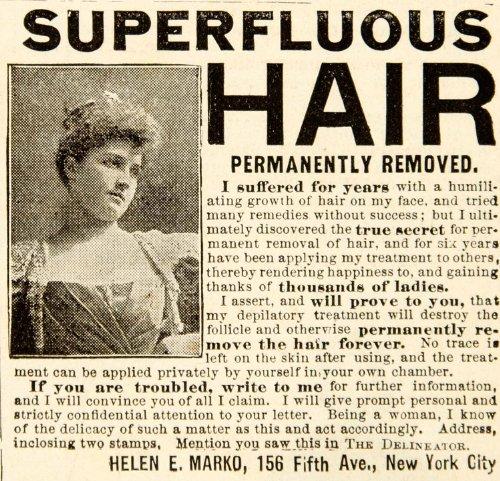 1898-ad-superfluous-hair-removal-permanent-helen-e-marko-health-beauty-women-original-print-ad