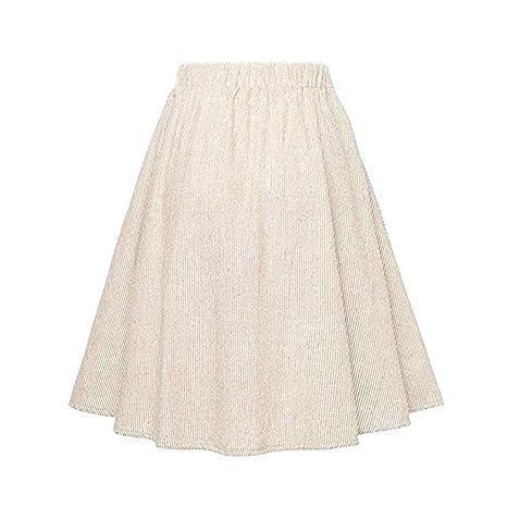 TIFIY Falda Mujer Color Sólido Salvaje Anchos Casual Cintura Alta ...