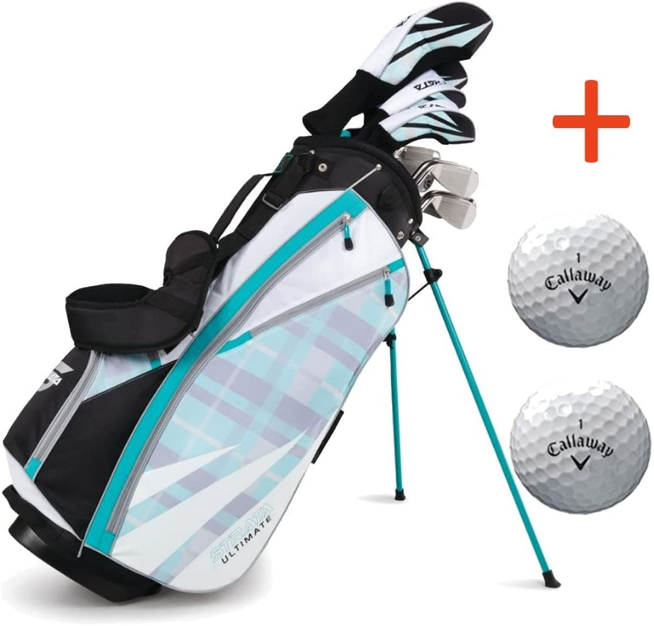 Callaway Women's Strata Ultimate Complete Golf Set with Bag, 16-Piece, Right Hand,with Two Balls