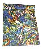 king handmade quilts - Tribal Asian Textiles Kantha Quilt King Size Bedsheet Paisley Handmade Bedspread Indian Cotton Throw