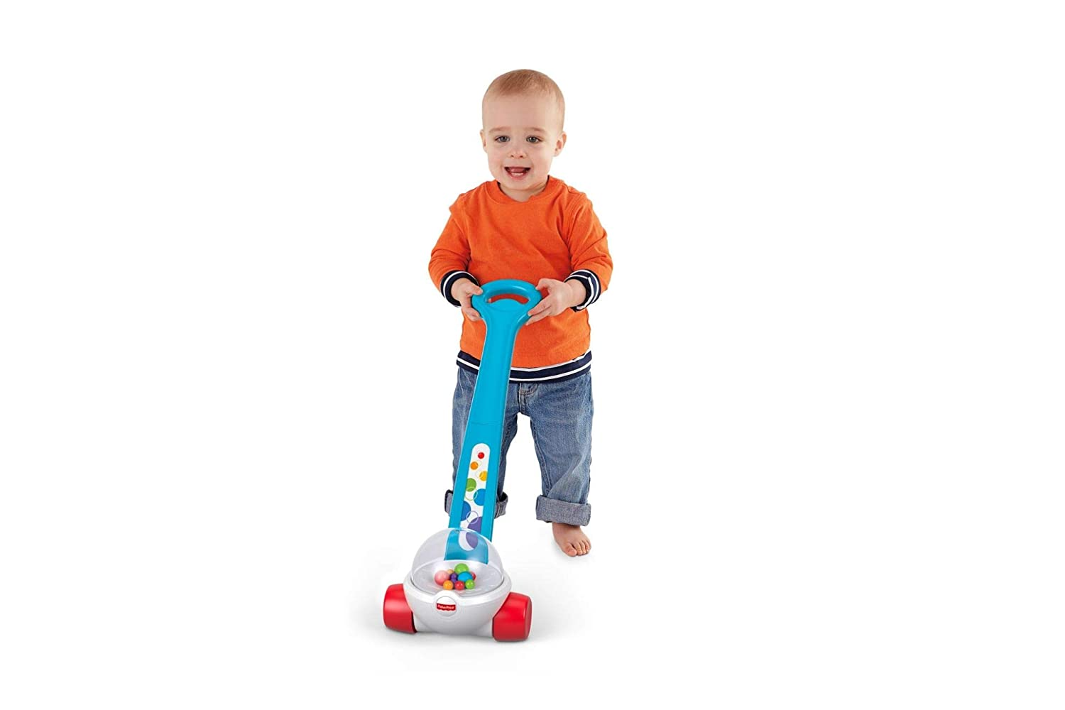 Fisher-Price Corn Popper, Toddler Push Along Toy with Ball-popping Sounds and Action, Toy for 1 Year Old Mattel FGY72