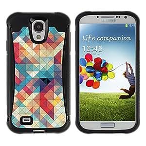 "Pulsar iFace Series Tpu silicona Carcasa Funda Case para Samsung Galaxy S4 IV I9500 , Acolchado Teal Plaid Rojo Blanco"""