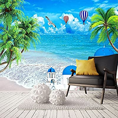 XLi-You The Ocean View 3D Stereo Minimalist Modern Tv Background Wall Paper Murals