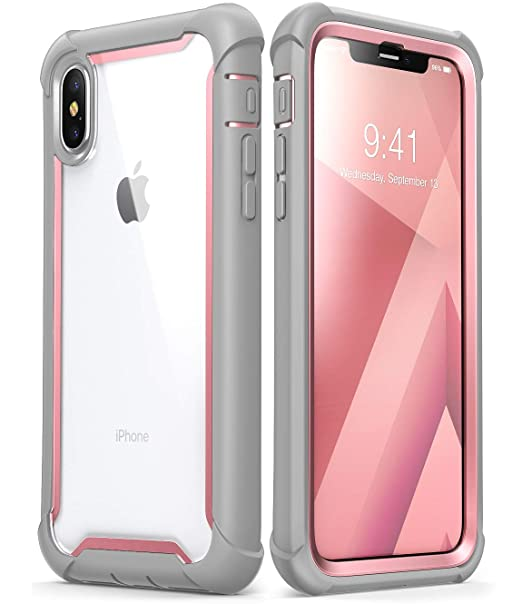 92a5ef4fe7087 iPhone X case, iPhone Xs Case, i-Blason [Ares] Full-body Rugged Clear  Bumper Case with Built-in Screen Protector for Apple iPhone X 2017 / iPhone  Xs ...