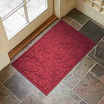 Amazon Com Leaf Design Entryway Rug With Non Slip Rubber