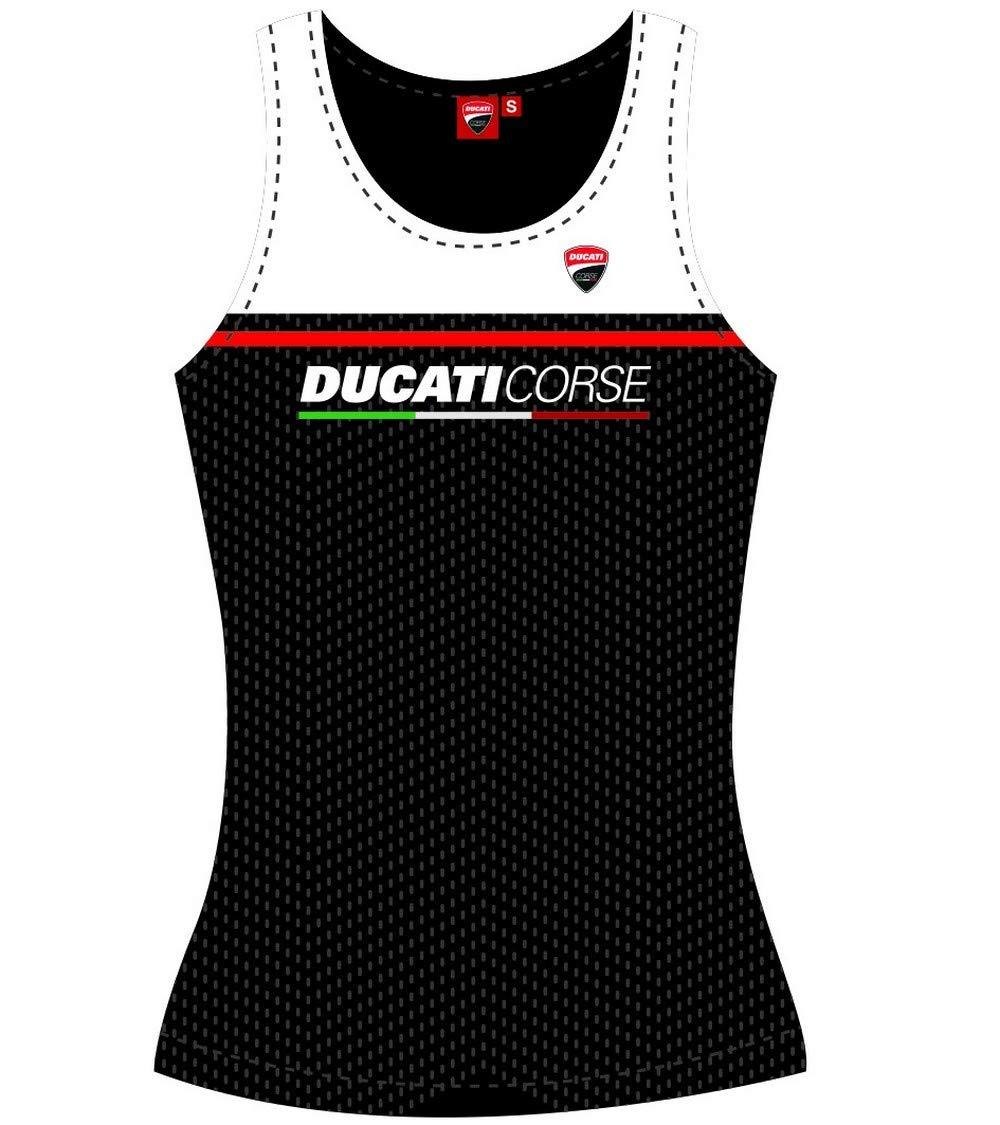 Ducati Top Camiseta de Tirantes para Mujer Color Negro X-Small