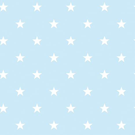 G23100 Deauville Wallpaper White With Light Blue Stars Amazoncom
