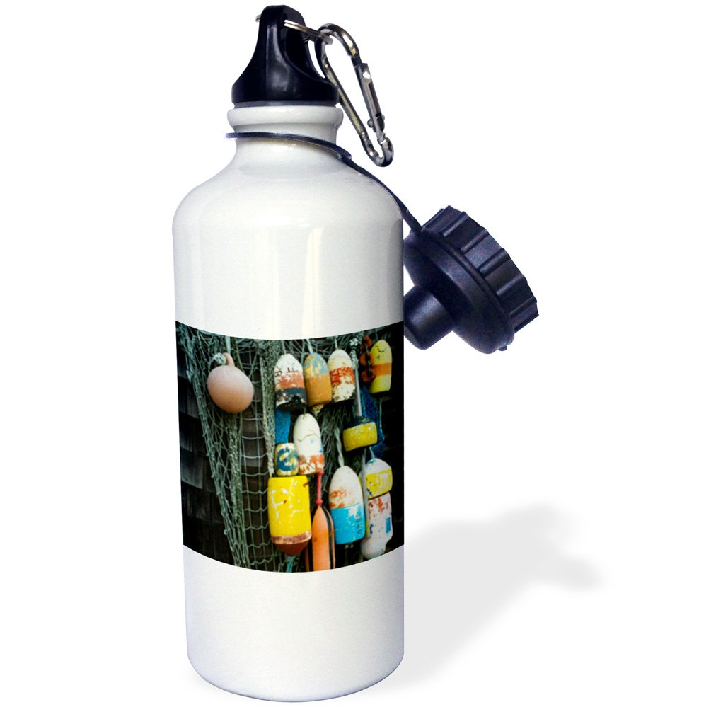 Lobster Buoys-Sports Water Bottle wb/_192091/_1 Rockport 21oz Multicolor 21 oz Massachusetts 3dRose USA