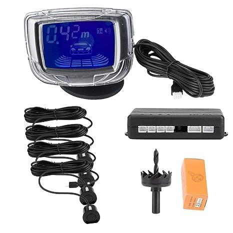 """KIMISS 12V DC Kit de sensor de aparcamiento para coche PDC con 2"""" pantalla LCD"""