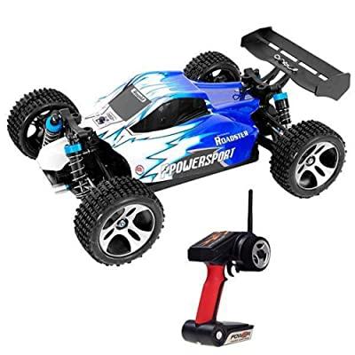 WLtoys A959 Vortex 1/18 Scale 2.4G 4WD Electric RC Car Off-Road Buggy RTR 50km: Toys & Games