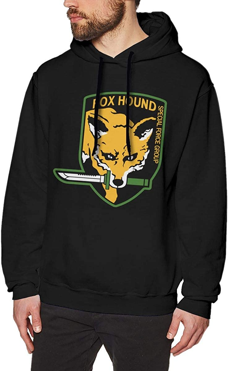 Metal Gear Solid Fox Hound Mens Pullover Hooded Sweatshirt Cozy Sport Outwear