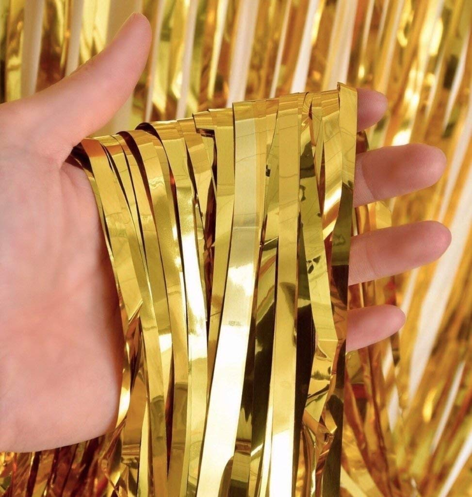 Gold FVCENT Rideaux Tinsel 4 PCS Rideaux Tinsel D/écoration Rideau en Aluminium Glitter D/écoration Brillant Rideau Rideau Franges Parti Fond Aluminium Rideau De Paillettes Shimmer No/ël