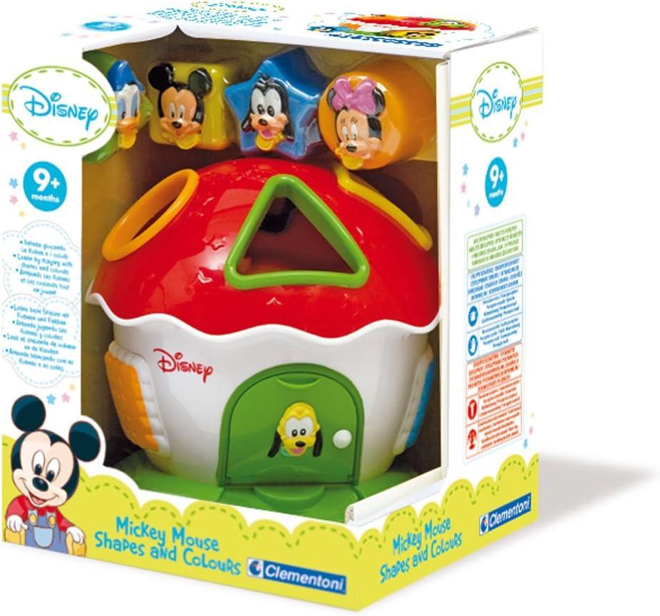 La Boite /à Formes Et Couleurs Mickey Clementoni B/éb/é Disney 14259 Jouet Premier Age