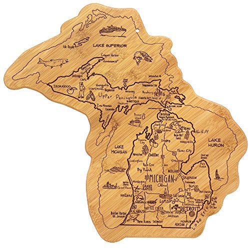 Totally Bamboo Michigan State Destination Bamboo Serving and Cutting Board (Michigan Cutting Laser)