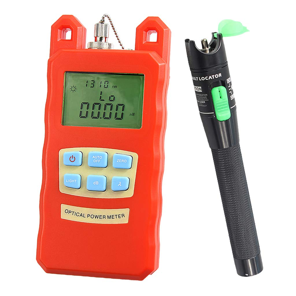 Baosity Pack Fiber Optic Cable Tester Optical Power Meter with Sc & Fc Connector Fiber Tester +20mW Visual Fault Locator for CATV Test,CCTV Test