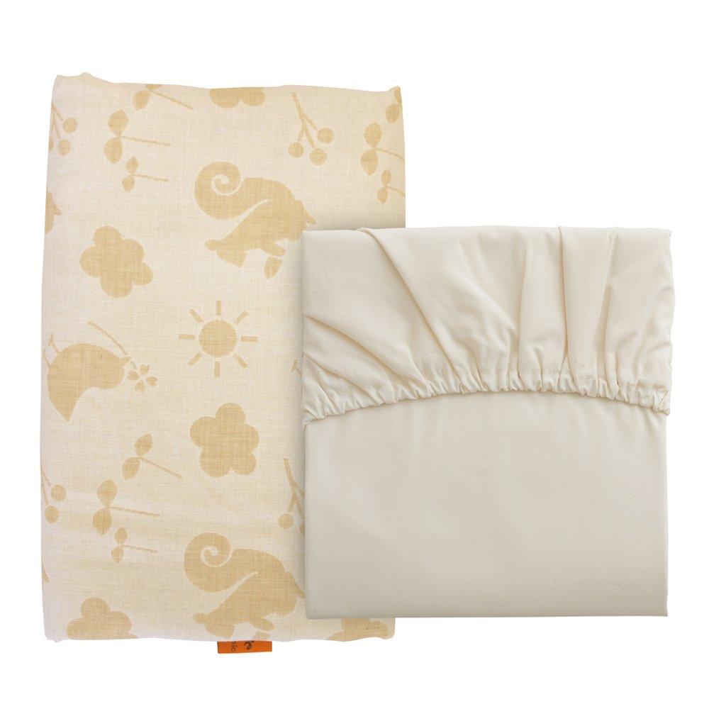 baby.e-sleep (baby Yi sleep) Purieru Copan Petit cover set made in Japan Organic double gauze (mini size hanging cover + fit sheets)