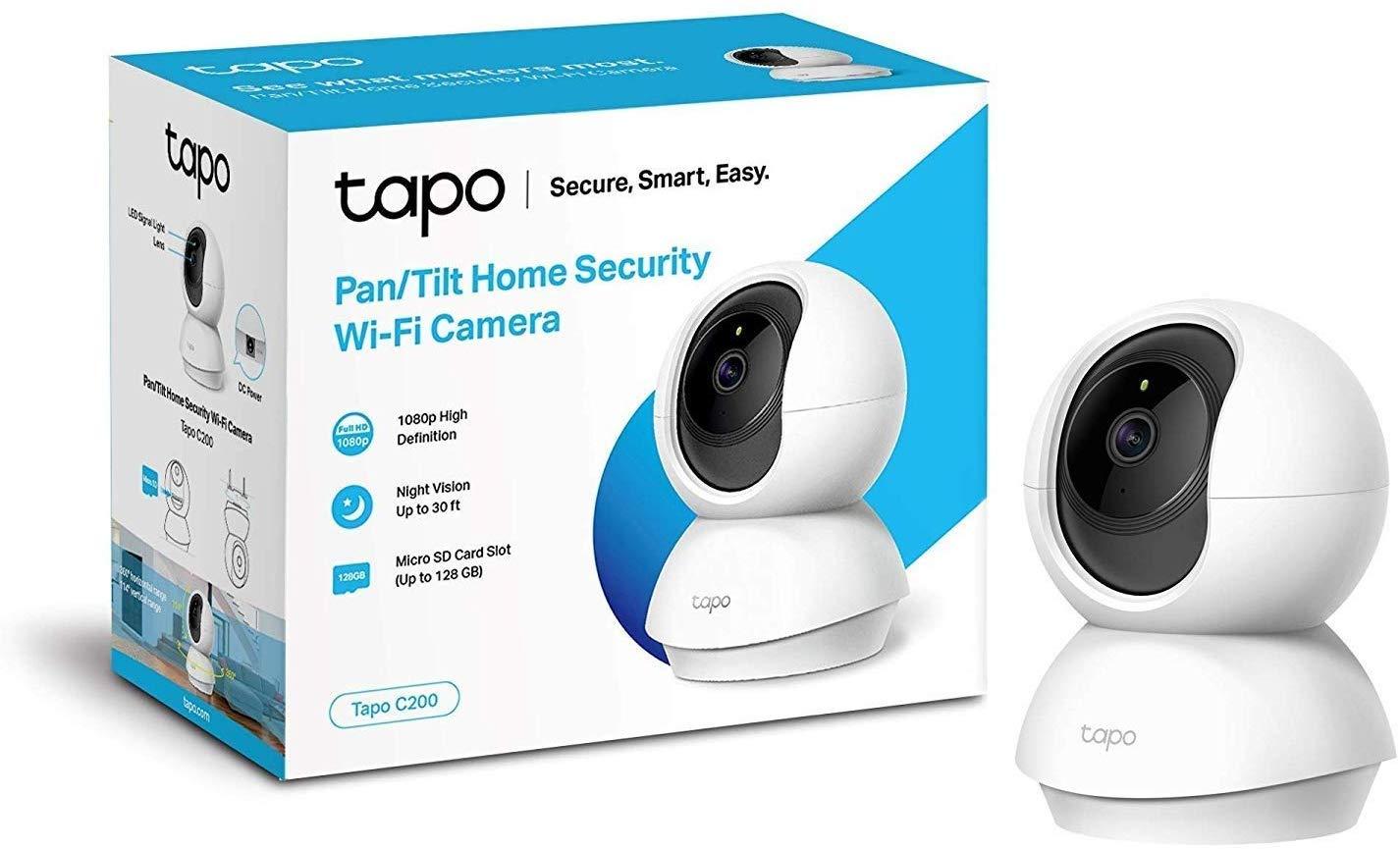 TP-Link Tapo C200 - Cámara Vigilancia, Cámara IP WiFi 1080p Full HD 114° Gran Angular + TP-Link HS100 - Enchufe Inteligente para controlar Sus ...