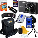 Sony Cyber-shot DSC-W830 20.1 MP Digital Camera with 8x Zoom & Full HD 720p Video (Black) - International Version + NP-BN1 Battery + 8pc 16GB Accessory Kit w/ HeroFiber® Ultra Gentle Cleaning Cloth