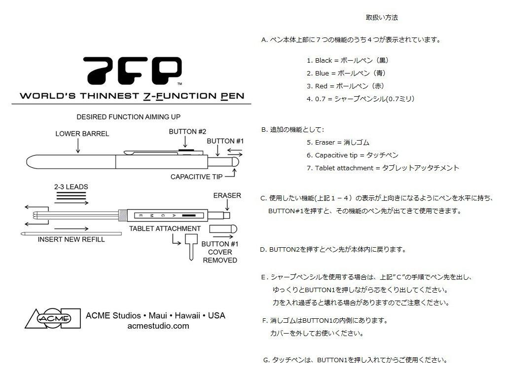 ACME Studios Ruler Seven Function Pen by Adrian Olabuenaga (P7FP04) by ACME Studios Inc (Image #5)