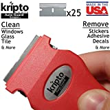 Red Razor Blade Scraper for Paint, Tint, Adhesive, Residue,...