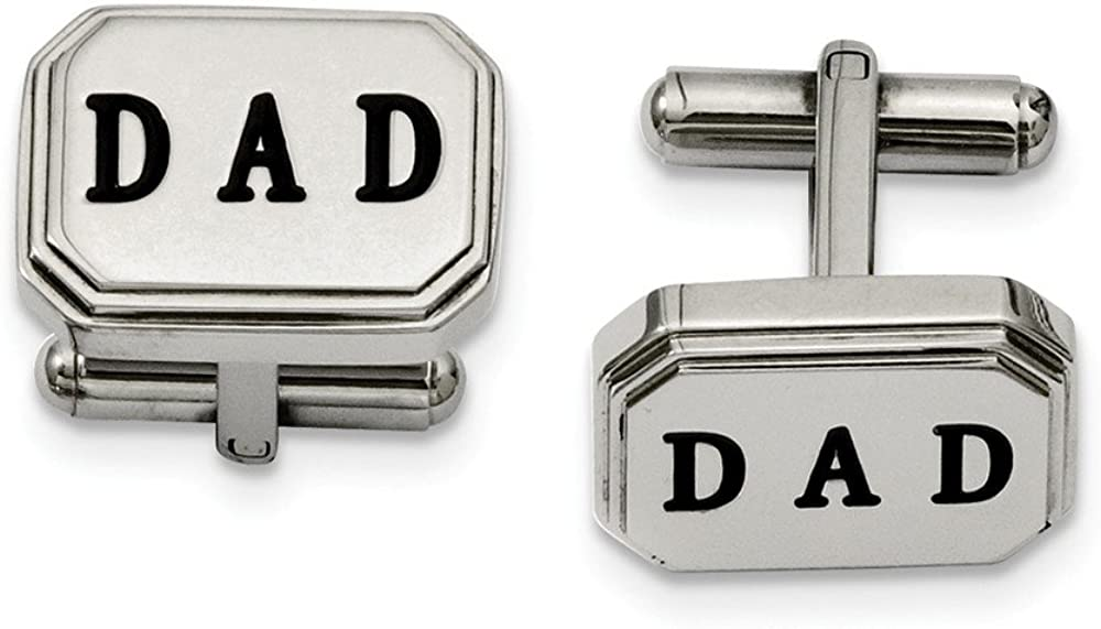 FB Jewels Solid Stainless Steel Dad Cuff Links
