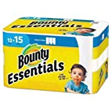 Bounty 75720 Essentials Select-A-Size Paper Towels, 2-Ply, 78 Sheets/Roll, 12 Rolls/Carton, 12 Count (Pack of 1)