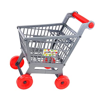 Amazon.com: Dovewill Miniature Supermarket Shopping Hand Trolley Cart for Kids Pretend Play Toy Playset- Easy to Assemble: Toys & Games