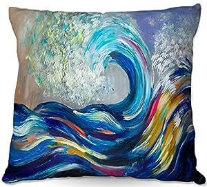 Al aire libre Patio sofá manta almohadas de DiaNoche Designs by Lam FUK Tim–Wave Rolling Rainbow