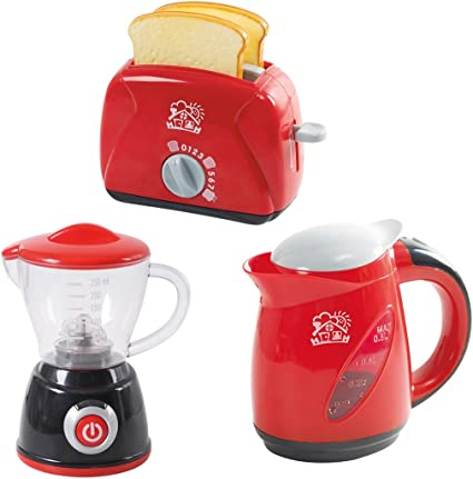 PlayGo Kitchen Chef Collection (My Toaster, My Blender, Deluxe Kettle) for  Your Little Chef | Pretend Play Home Kitchen Appliances 3Piece Play Set for  ...