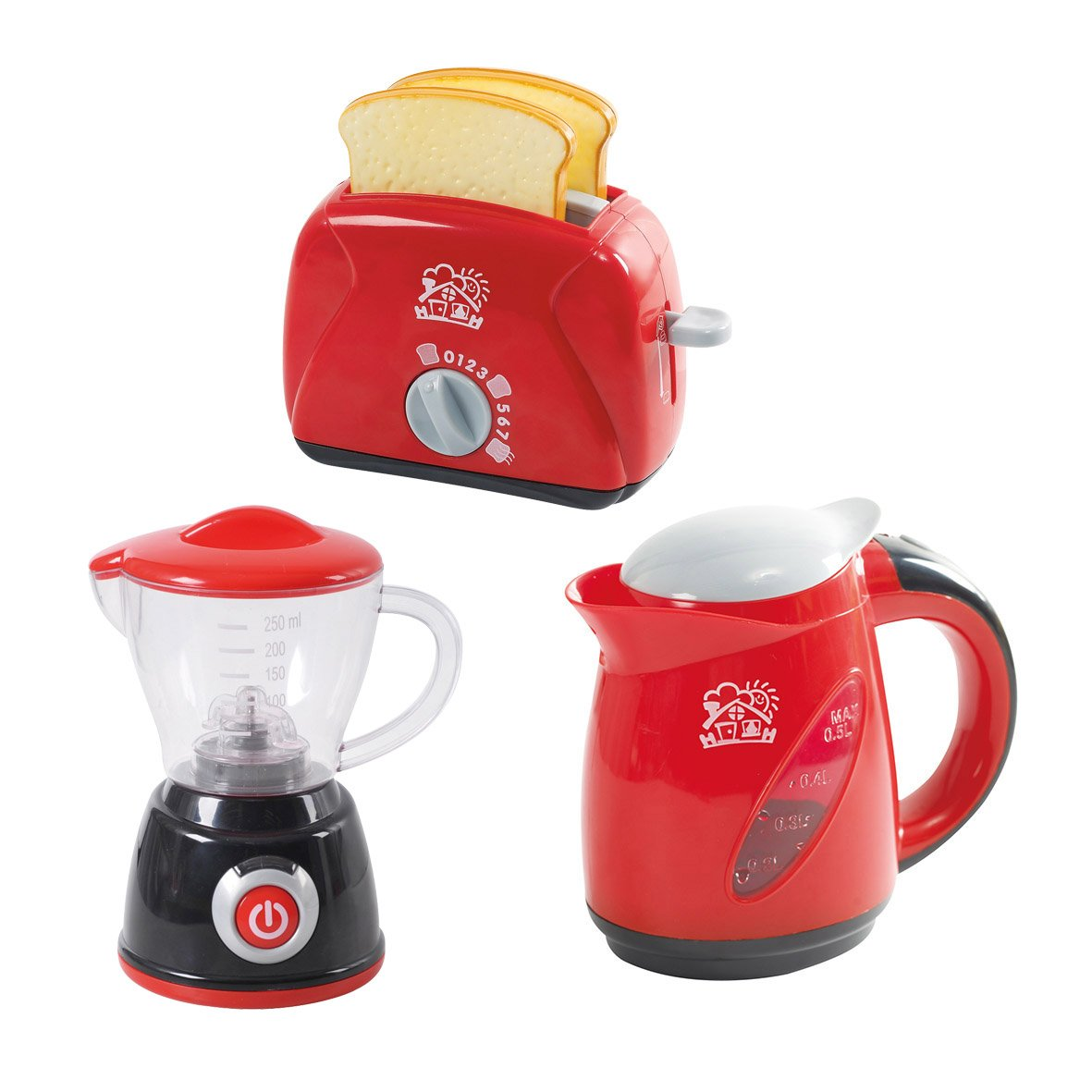 PlayGo Kitchen Chef Collection (My Toaster, My Blender, Deluxe Kettle) for Your Little Chef | Pretend Play Home Kitchen Appliances 3Piece Play Set for Kids Children Toddlers