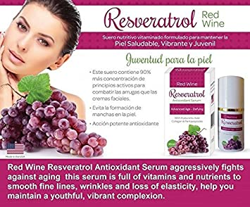 Resveratrol Face Cream Potent Formula Quercetin, Grape Seed, Red Wine Extract