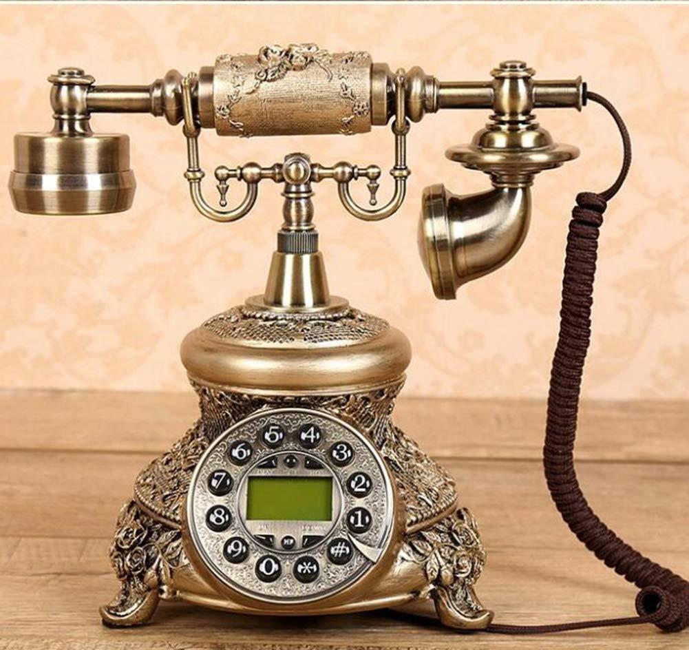 Telephone Rotating Classical Telephone Antique Vintage European Pastoral Retro Telephone Fixed Telephone Home Landline,1 by Telephone