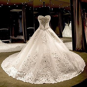 kekafu La princesa amada Catedral tren vestido de novia en tul con arco(s)