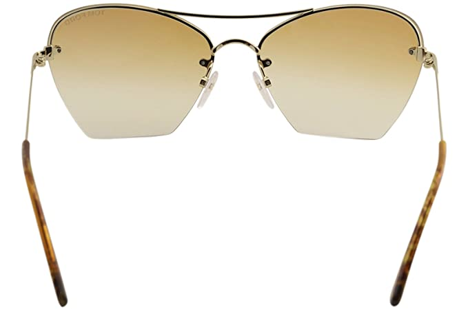 c31bd180a2 Amazon.com  Tom Ford TF507 Annabel 28F Womens Gold Blonde Havana 58 mm  Sunglasses - gold blonde havana  Clothing