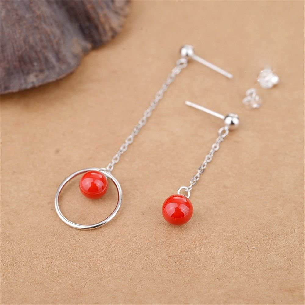 Ling Studs Earrings Hypoallergenic Cartilage Ear Piercing Simple Fashion Earrings Ear Jewelry Earrings Long Asymmetric Earmuff Mother Pearl Pearl Pendant S925 Sterling Silver