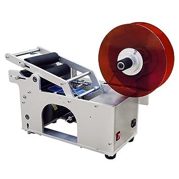 ECO-WORTHY Máquina de etiquetado de la botella redonda semiautomática del etiquetador Aplicador de la prensa del Semi automático para la cerveza, ...