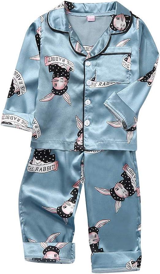 Toddler Infant Baby Boy Girl Pajams Long Sleeve Pjs Set Sleepwear Nightwear Autumn Winter Outfits Set