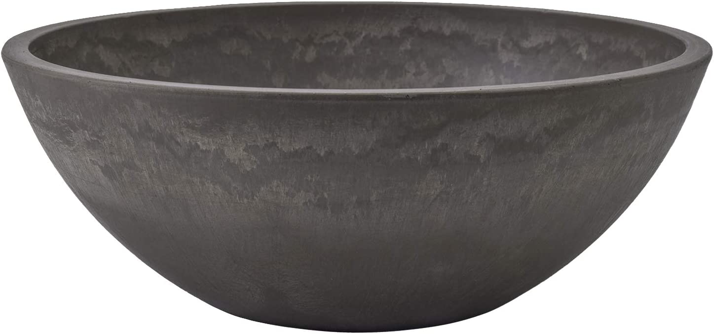 "Arcadia Garden Products M25DC Garden Bowl 10""-Dark Charcoal"