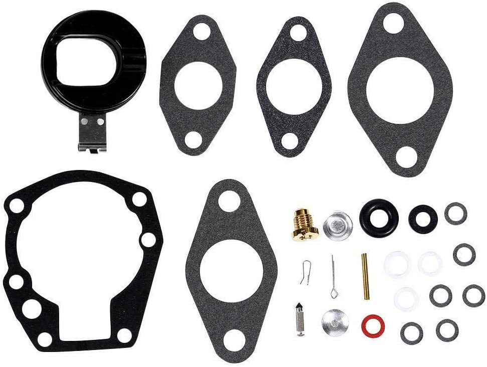 Paopro Carburetor Repair Rebuild Kit 439071 18-7043 for Johnson Evinrude 1.5, 2, 3, 4, 5, 5.5, 6 HP
