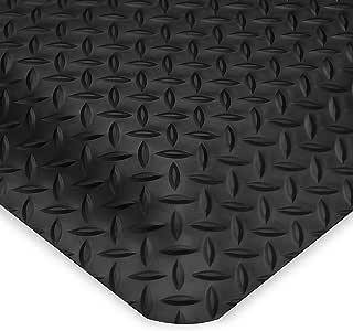 Wearwell Ultrasoft Diamond-Plate Anti-Fatigue And Safety Mat - Custom-Cut Size - 2'W - Black - 17