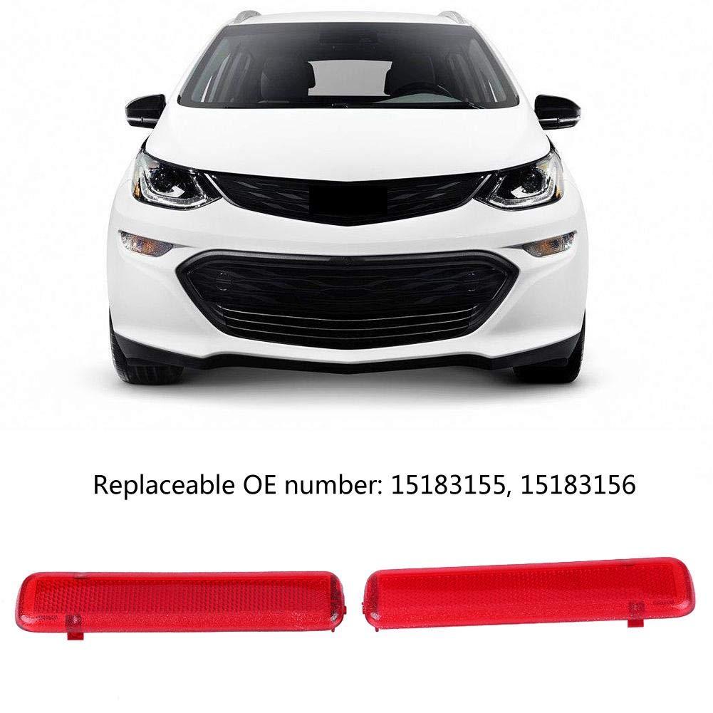 Car Door Trim Panel Reflector Left /& Right for Chevy 15183155 15183156 Qiilu 1 Pair of Rear Door Trim Panel