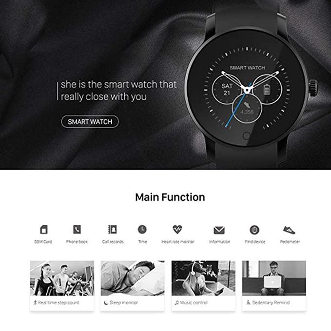 Amazon.com: PINGTANG Smartwatch with SIM Card Slot for Call ...